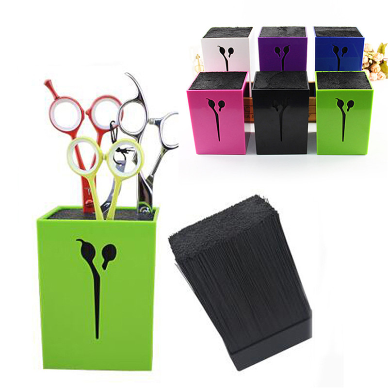 4 Colors Professional Hair Comb Scissor Case Salon Hair Tools Hair Scissor Holder For Barber Scissor Socket Storage Box JSX