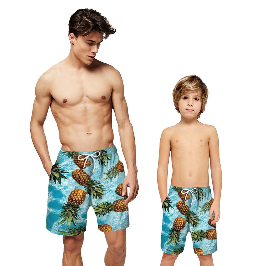 Mens Summer Casual Swimming Trunks 3D Print Swimwear Bathing Suits Beach Shorts
