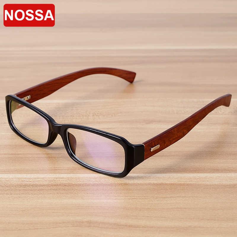 Nossa Kayu Buatan Tangan Kualitas Kacamata Kacamata Wanita Pria Vintage Klasik Resep Eyewear Frame Bambu Tontonan Kacamata