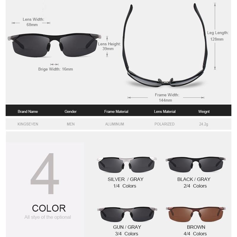 Kingseven μόδα πολωμένο γυαλιά ηλίου - Αξεσουάρ ένδυσης - Φωτογραφία 3