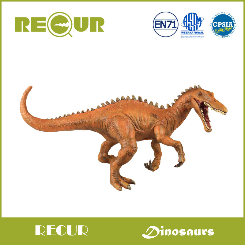 Recur Toys Baryonyx Dinosaur High Simulation Model Action Figures PVC Soft Toy With Hand Painted  Dinosaur Gift For Kids 13pcs simulation vinyl dinosaur models hand puppet kids child educational development gift toy set