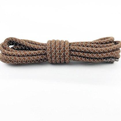Leyou 100-160cm люминесцентная лампа кроссовки шнурки спортивные шнурки 3м Reflective круглые веревочные шнурки светлые шнурки Led - Цвет: Coffee