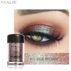 FOCALLURE Glitter Eyeshadow Palette 18 Colors Cosmetics Shiny Makeup Eye Shadow Pigment Shimmer Earth Colors Palette Eyeshadow