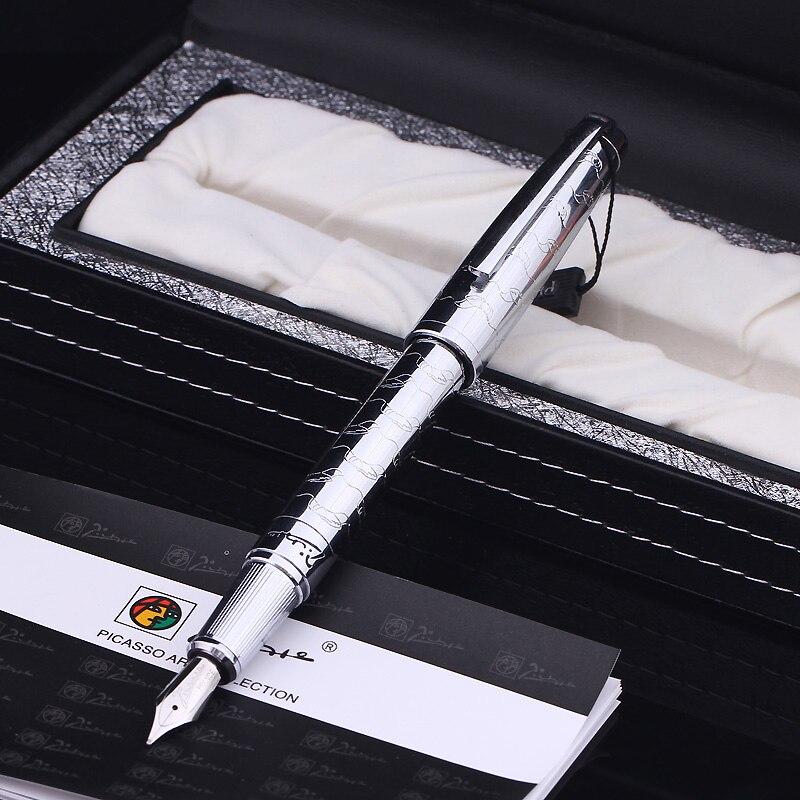 Les meilleurs cadeaux d'affaires Pimio 918 stylo à plume avec 0.5mm Iridium Nib stylos encreurs en métal écriture papeterie livraison gratuite