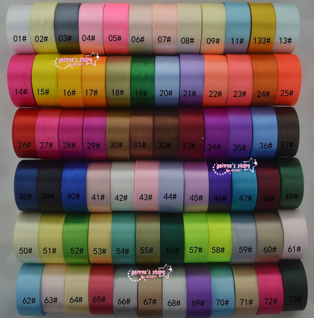 Nieuwe arrive 1 1/2 ''(38mm) single satijn lint 25 yards/roll totaal 20 rollen, 500 yard/lot mix 20color. 120 kleur voor optie-in Linten van Huis & Tuin op  Groep 1