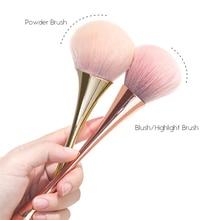 Luxury Makeup Brushes Golden Rose Powder Blush Highlight Brush Set Professional Make Up Face Cosmetic Tool