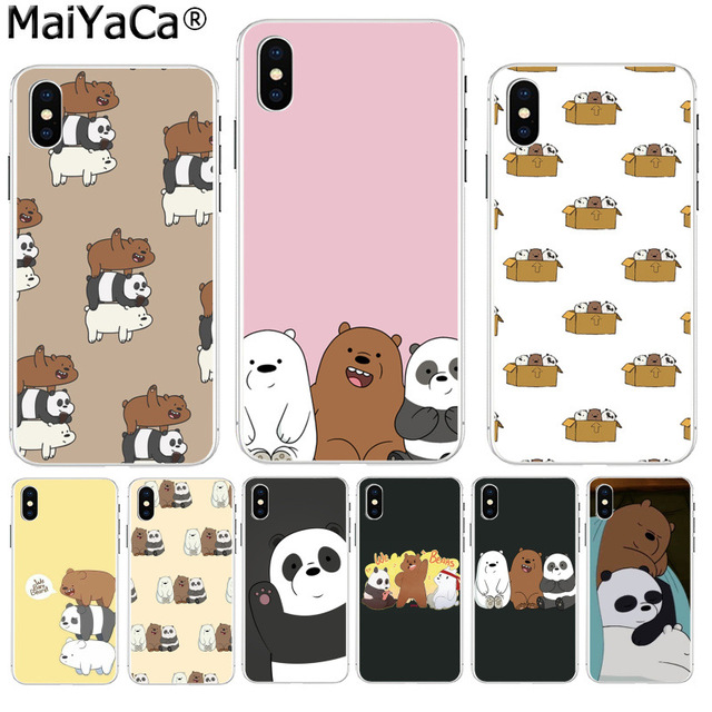 sale retailer 164fc 30eb9 US $1.03 48% OFF|MaiYaCa we bare bears miniso Soft TPU silicone Colorful  Phone Accessories case for iPhone 8 7 6 6S Plus X XS max 10 5 5S SE XR-in  ...