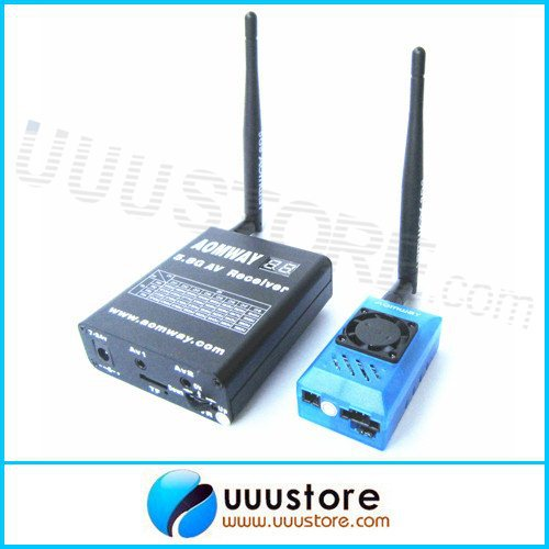 Aomway 5.8Ghz 1W 1000mW AV Transmitter and Receiver DVR Recorder with Antenna for FPV RC Model hot new aomway rx006 dvr 5 8g 48ch diversity raceband a v receiver with built in video recorder