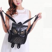 Fashion Cute Owl Backpack Women Cartoon School Bags For Teenagers