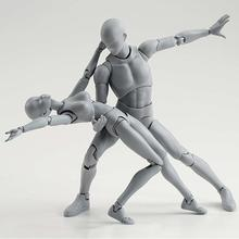 SHFiguarts KÖRPER KUN/KÖRPER CHAN Beweglichen körper chan körper kun Grau Farbe Ver. PVC Action Figure Sammeln Modell Spielzeug