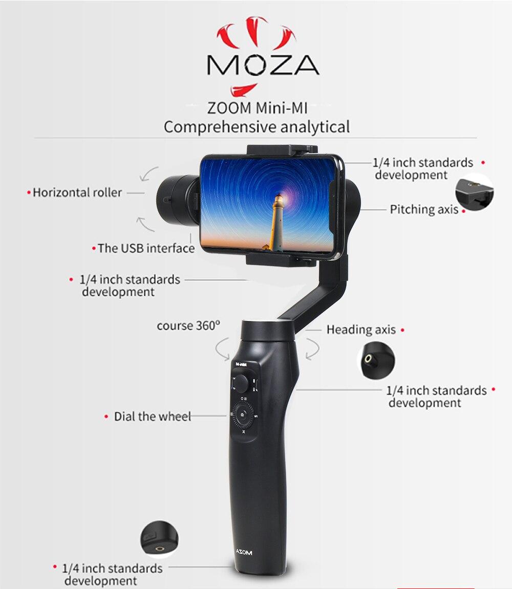 Iphone 3 Plus Uchun Moza Mini Mi 8 Axis Portativ Gimbal 4g Dan 3g Mahsulot Tarifi