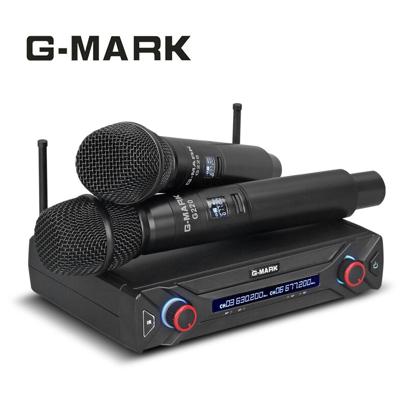 G-MARK G220 Senza Fili mi crophone sistema di Qualità Superiore UHF frequenza Regolabile Ge mi ni karaoke mi c bar Del Partito di Video K mi c Xiao mi