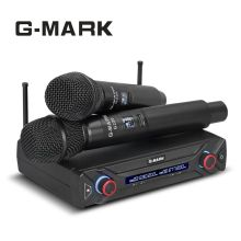 USA RUS Fast shipping G-MARK G220 Wireless Microphone Top Quality UHF frequency Gemini karaoke mic bar Party Video K Mic Xiao MI mark burnell gemini
