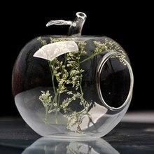 Творческий мода фрукты украшения груша и яблоко стеклянной вазе домашнего декора дома новизны украшения горячие продаж