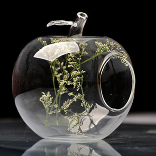 Gift Creative Fashion Fruit Decoration Pear And Apple Glass Vase