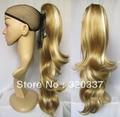 """22 """"Женщины Выделите Хвост Волос Волнистые Ponytail Расширения Женщины Ponytail Парик Шиньоны Синтетический Волос # K22K613A Браун & Белый"""