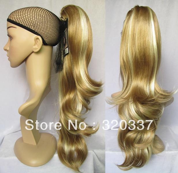 22 Women Highlight Ponytail Hair Wavy Ponytail Extensions Women