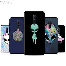 Alien Believe UFO ET cute Case for Oneplus 7 7Pro 5T 6 6T Black Soft Case for Oneplus 7 7 Pro TPU Phone Cover