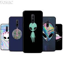 Alien Believe UFO ET cute Case for Oneplus 7 7Pro 5T 6 6T Black Soft Case for Oneplus 7 7 Pro TPU Phone Cover