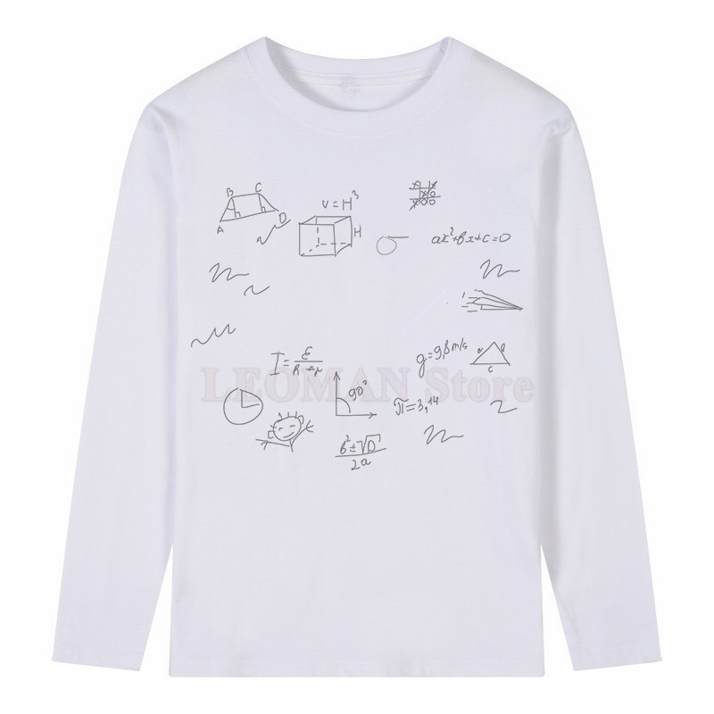 1b08bc28 LEOMAN Funny Cartoon Math T Shirt Summer Men's Novelty Customied Hipster  Cool Long Sleeve Tops T Shirt on Aliexpress.com | Alibaba Group