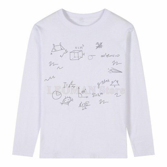LEOMAN Funny Cartoon Math T Shirt Summer Men's Novelty Customied ...