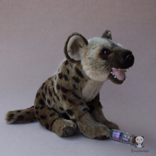 Emulation Spotted Hyena Doll Plush Toys African Wild Animal Dogs Dolls Gift Children'S Educational Toy Rare