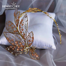 Himstory Vintage Handmade European Designs Crystal Headbands BRidal Hairbands Wedding Hair Accessories Girls Gift Jewelry