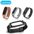 Lemse Metal Wrist Band Bracelet Wrist Strap Replacement for Miband 2 Xiaomi Mi band 2 Smart Band 3 colors for choose