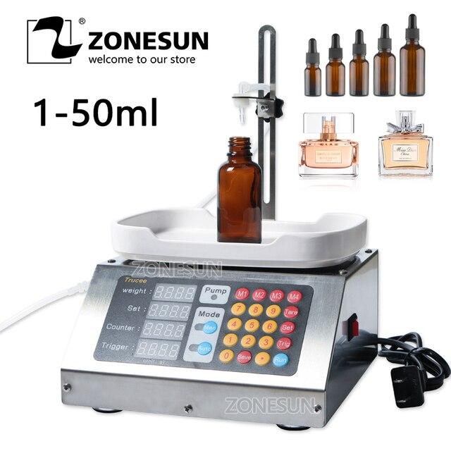 ZONESUN 0-50 ml קטן אוטומטי CNC מכונה 110 V-220 V בושם במשקל מילוי מכונה אוראלי נוזלי פתרון מילוי