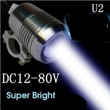 Motorcycle Headlights 12V U2 Moto led Driving Spotlights Offroad ATV SUV headlamp car fog spot head lights work lamp