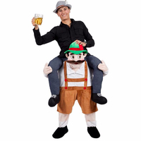 Novelty Funny Animal Pants Ride On Me Fancy Dress Carry Back Oktoberfest Party Adult Mascot Costume