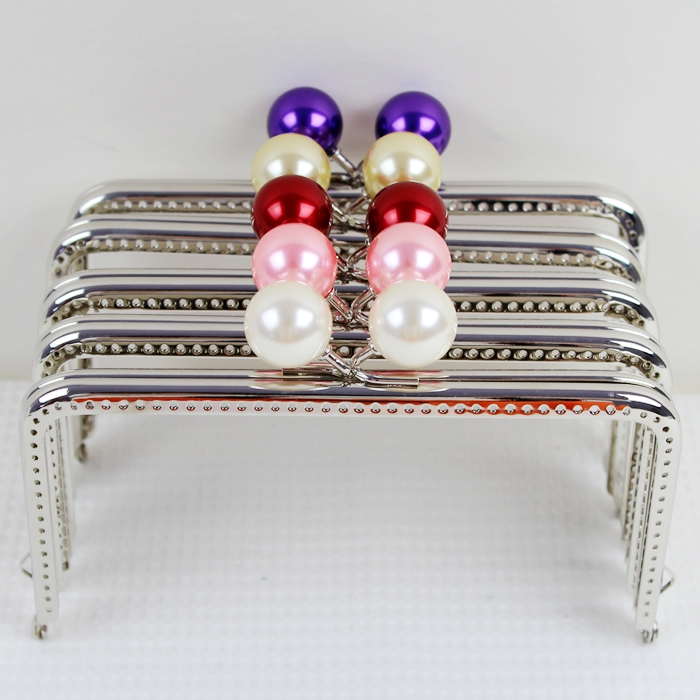Luggage & Bags The Cheapest Price 10pcs Wholesale 15 Cm Pearl Candy Bead Metal Purse Frame Handle Silver Tone Glossy Long Feet Purse Frame Diy Bag Accessory