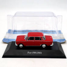 IXO Altaya 1:43 Fiat 1500 1963 Red Diecast Models Limited Edition Collection Toys Car 1 43 ixo diecast model car brazilian classic fiat uno 1983 miniature vehicle
