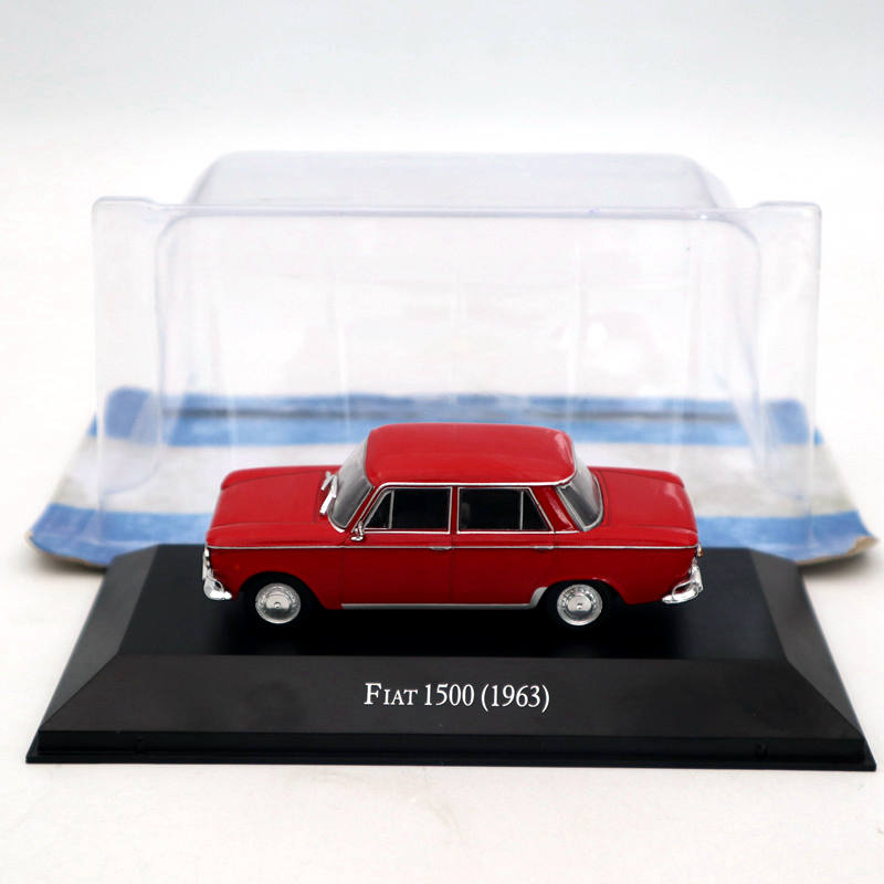 IXO Altaya <font><b>1</b></font>:<font><b>43</b></font> <font><b>Fiat</b></font> 1500 1963 Red Diecast <font><b>Models</b></font> Limited Edition Collection Toys <font><b>Car</b></font> image