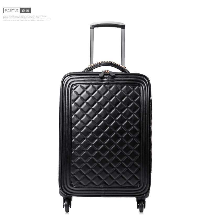Suitcase trolley luggage female16 20 24universal wheels of the box male fashion luggage travel bag,euro fashion black bag