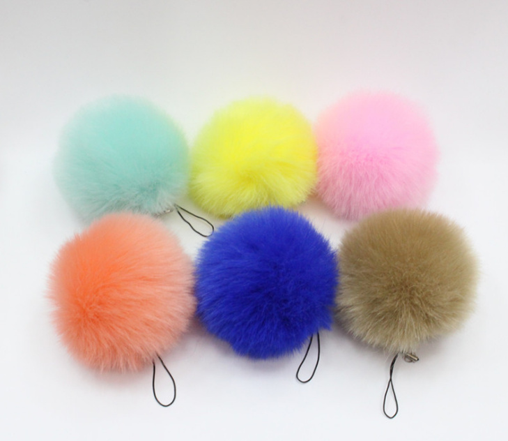 50PCS Kawaii Mix Colors Stuffed Hair Ball Keychain DOLL TOY Plush Stuffed TOY FOR Wedding Bouquet