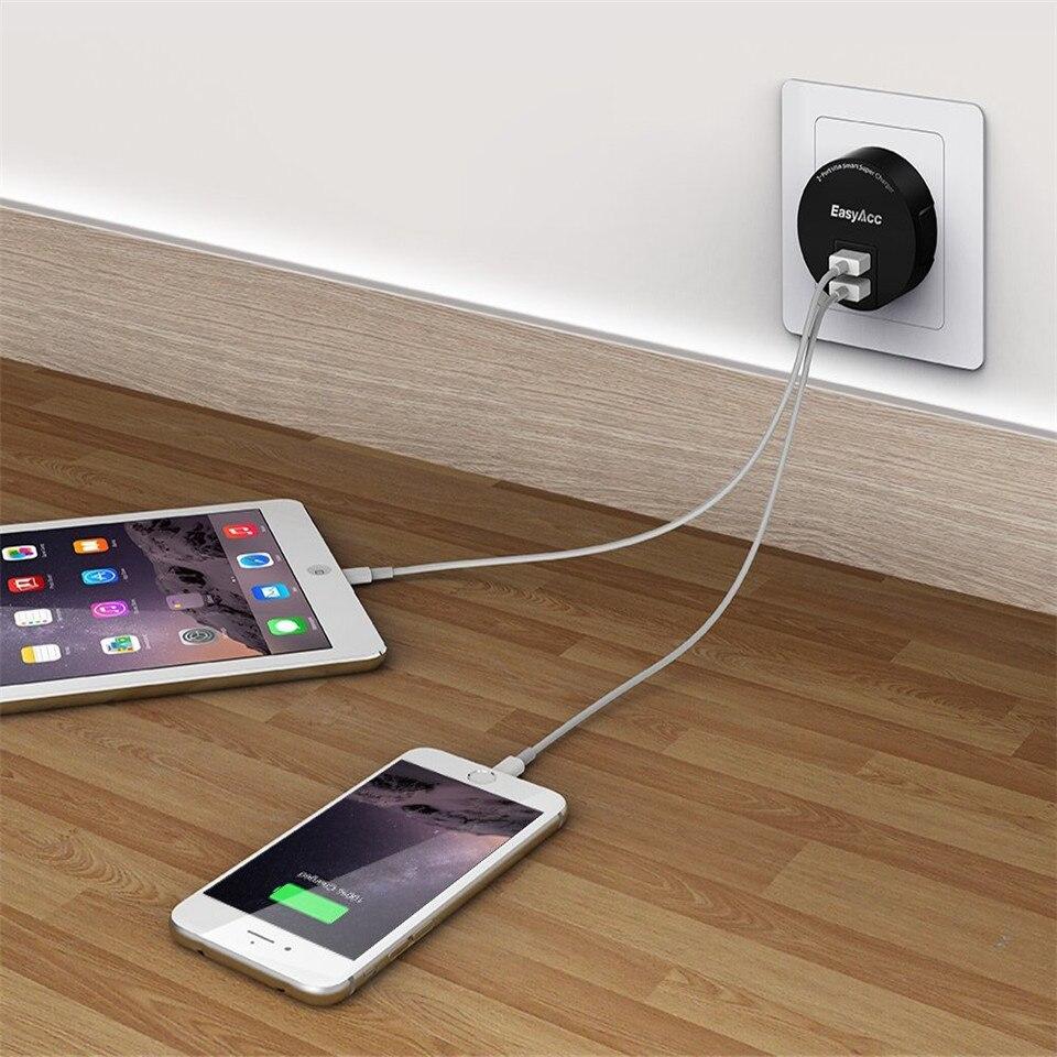 EasyAcc 3.4 USB լիցքավորիչ 2 Port Portable Dual USB - Բջջային հեռախոսի պարագաներ և պահեստամասեր - Լուսանկար 5