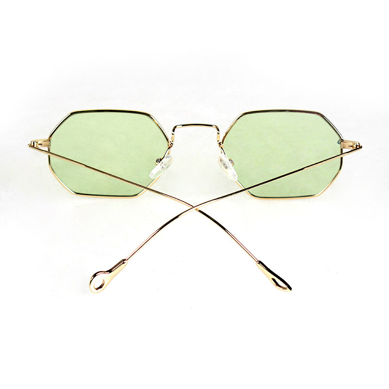 TAGION Women Sunglasses Fashion Female Retro Sunglasses Men Gold Metal Sun Glasses Clear Candy Color Eyewear Oculos 8102