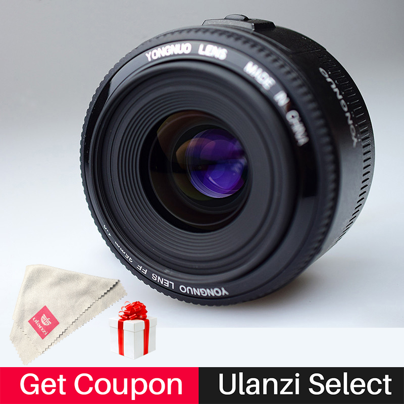 Ulanzi Yongnuo YN35mm F2 F2.0 Camera Lens Wide Angle Large Aperture Fixed Auto Focus Lens for Canon EF Mount EOS 5DII 650D 60D yongnuo yn35mm af mf fixed focus camera lens f2n f2 0 wide angle f mount for nikon d7200d7100 d300 d5500 d500 dslr free lens bag