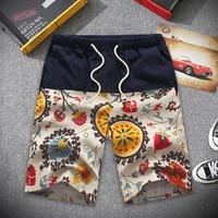 New Male Short Trouser Summer Fashion Casual Pant Cotton Linen Loose Harem Pants Men Wide Leg Beach Pant Big Size XXL 8XL