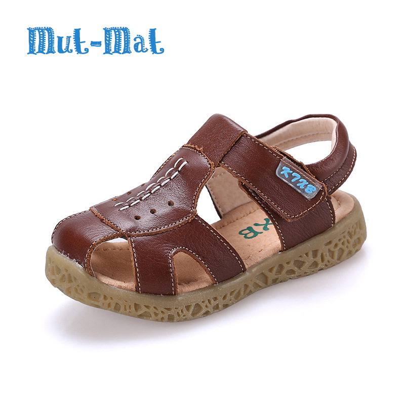 Summer New Fashion Genuine Leather Sandals Children Breathable Soft Kids Classical Sandals Boys Girls Casual Leather Sandals