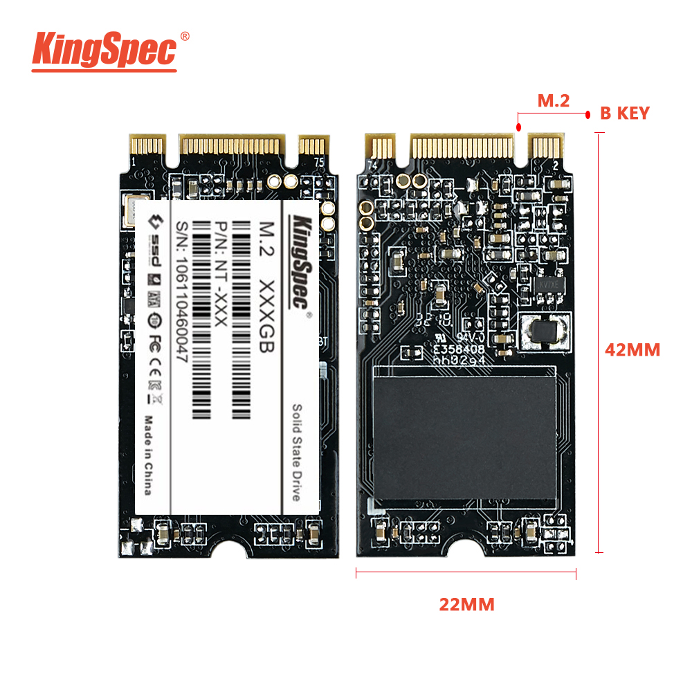 KingSpec m.2 SSD 2242 120GB 240gb 500gb HDD 2242mm NGFF SSD M2 SATA 1tb 2tb Hard Drive for laptop Jumper 3 pro prestigio 133(China)