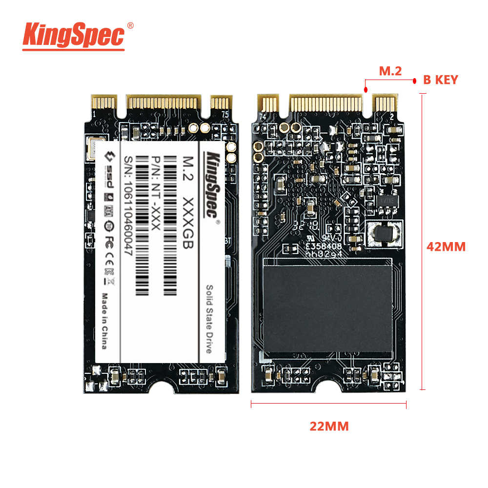 KingSpec m.2 SSD 2242 120GB 240gb 500gb HDD 2242mm NGFF SSD M2 SATA 1tb 2tb Hard Drive for laptop Jumper 3 pro prestigio 133