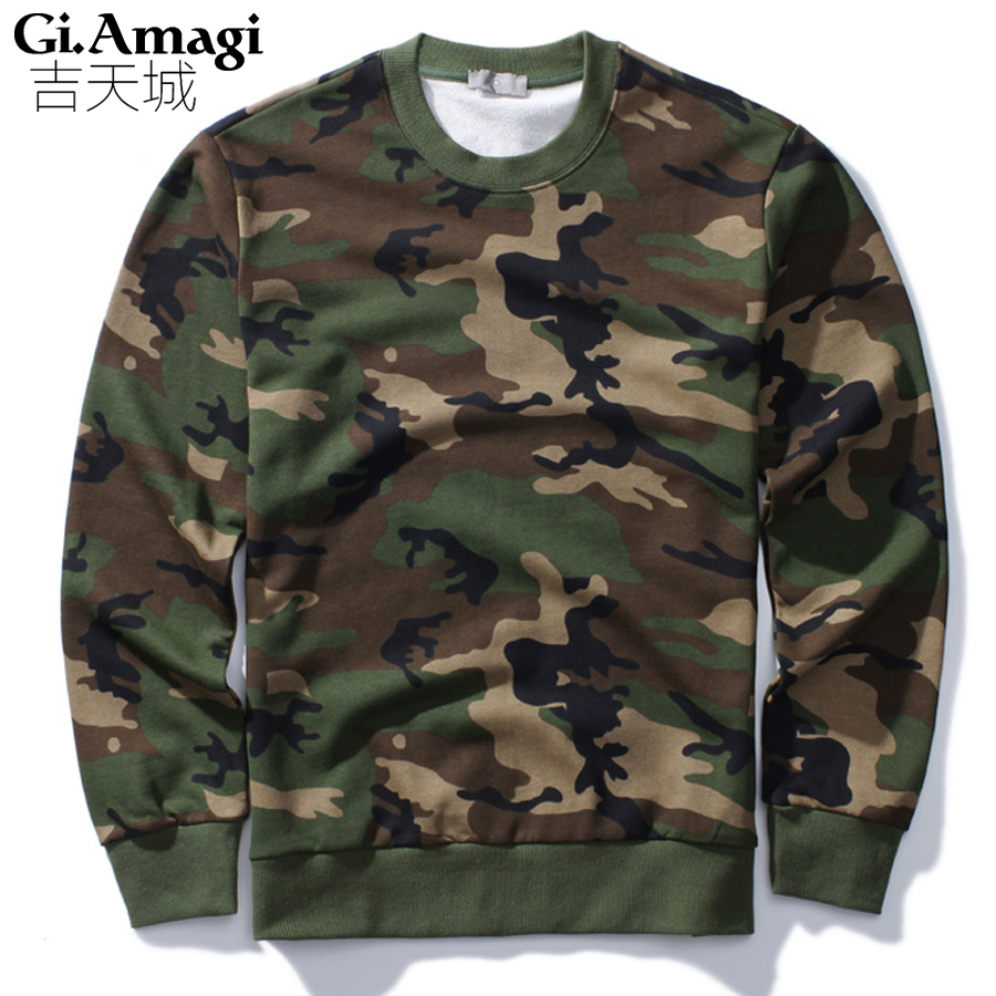 2017 New Autumn Sweatshirt Men Fashion Camouflage Hoodie Mens Hip Hop Pullover Men's Tracksuits NYW015