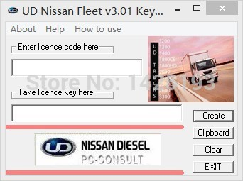 UD DataLink 3.01 (Diagnosis & Reprogram)+ keygen For nissan  цена
