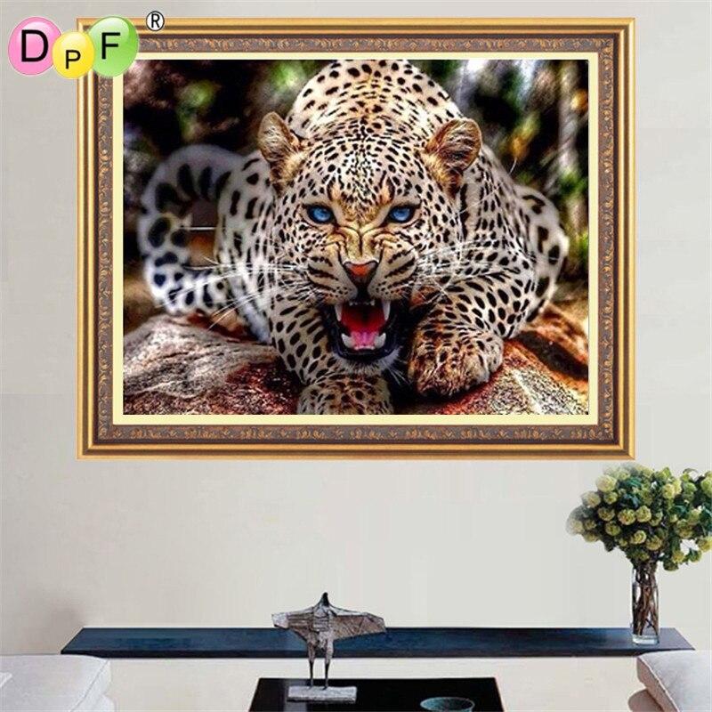 DPF gyémánt hímzés leopárd DIY 5D gyémánt mozaik mágikus - Művészet, kézművesség és varrás