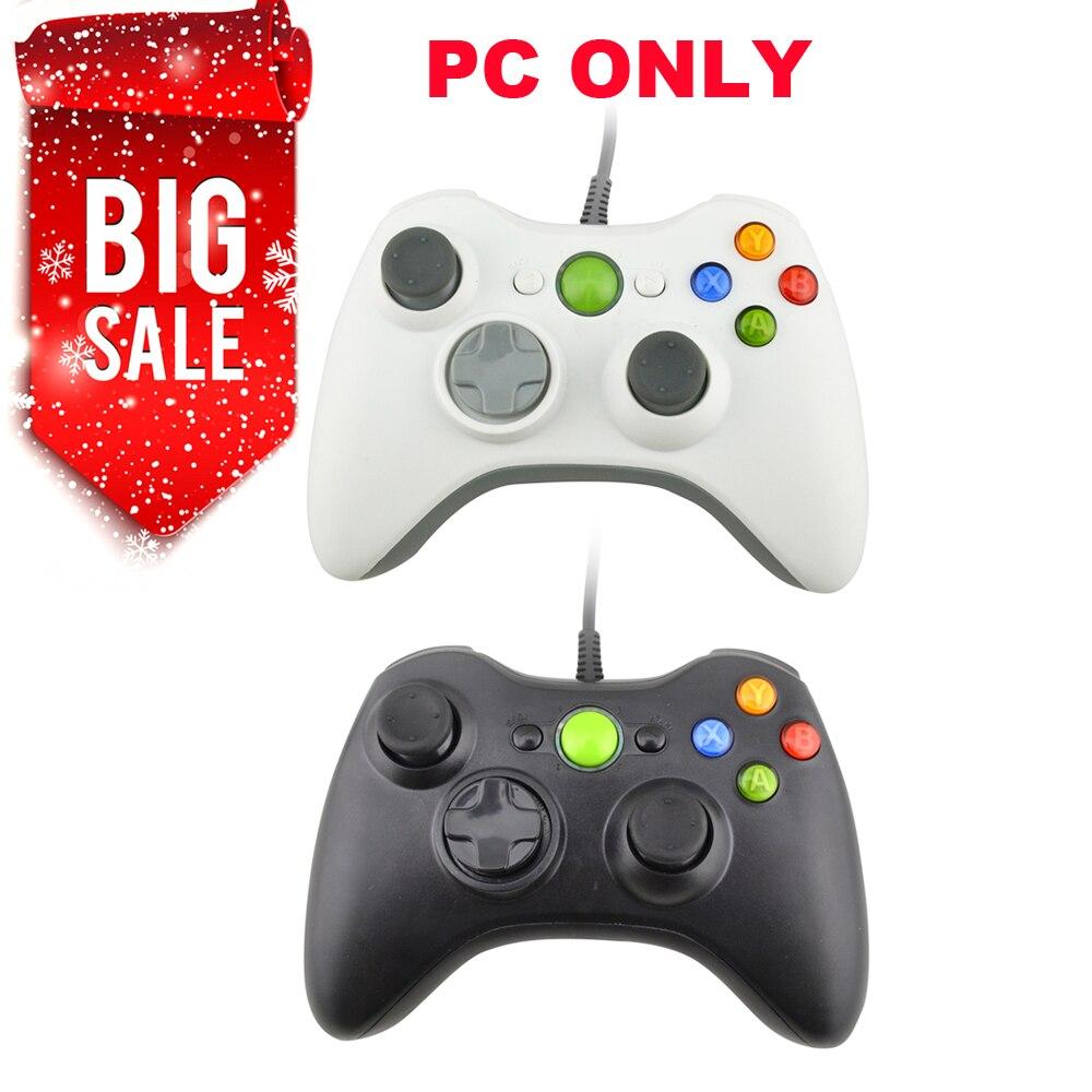 Com fio pc 360 gamepad controlador de jogo usb para o joystick de pc não compatível para xbox 360 apenas