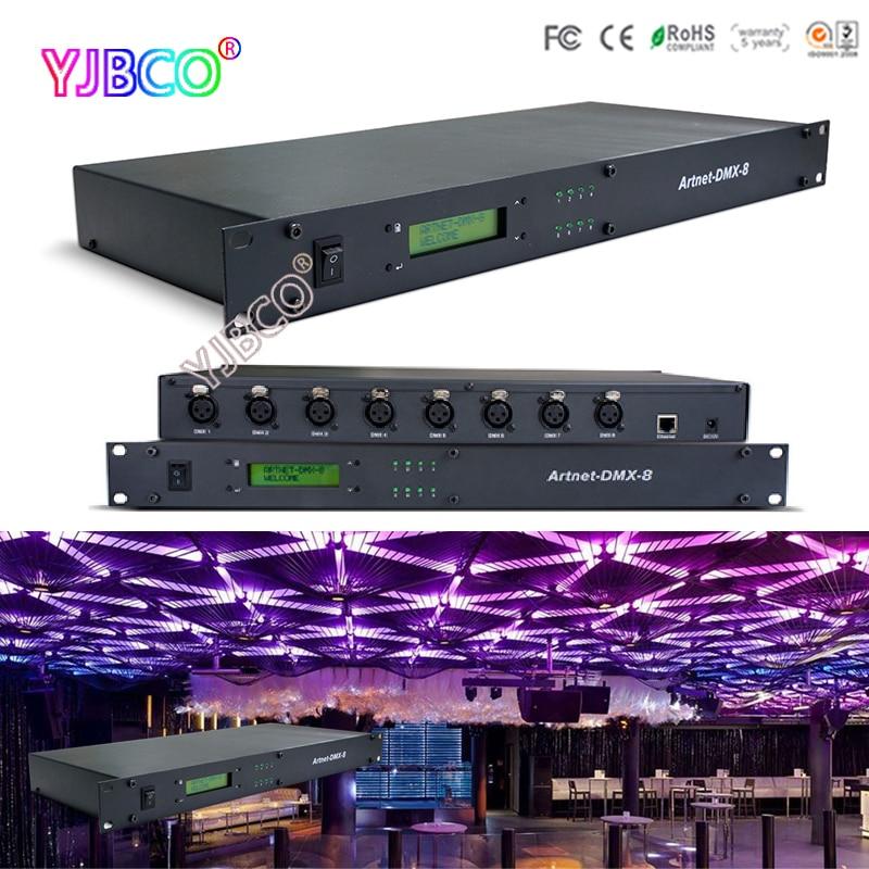 LTECH ArtNet into DMX converter;Artnet-DMX-8;convert the Artnet network data package into DMX512 data;512channel *8 ports output fast shipping fast shipping ltech dc12v artnet dmx converter artnet dmx 2 artnet input dmx 1024 channels output 512 2ch channels