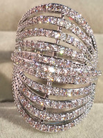 Fashion Multilayer Lines Ring Zirconium Jewelry db7486 Women Accessories Rings