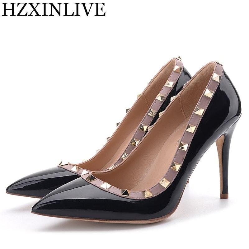 GGOB Crystal Flower Wedding Shoes Woman High Heels Pumps Handmade Sheepskin  Designer Women Bridal Brand Rivet 85d697095583
